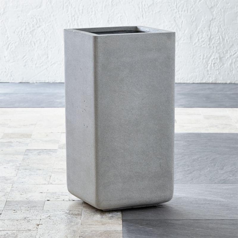 square tall planter crate and barrel. Black Bedroom Furniture Sets. Home Design Ideas