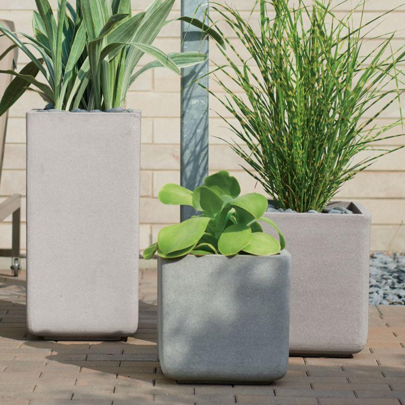 square planters crate and barrel. Black Bedroom Furniture Sets. Home Design Ideas