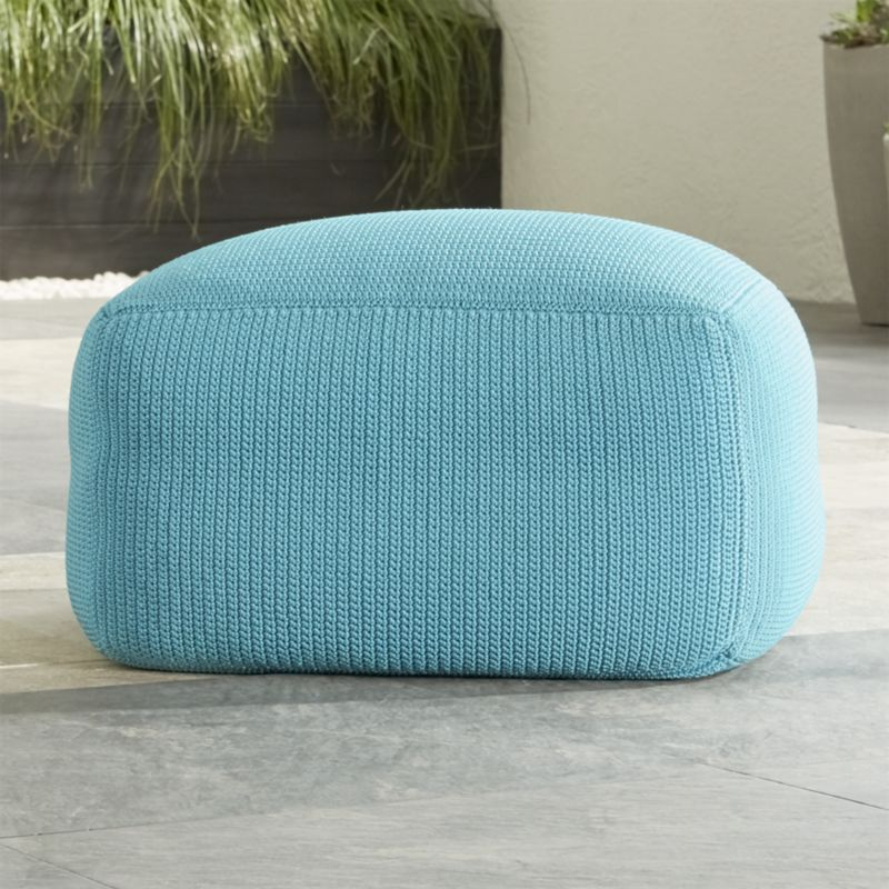 Outdoor square mineral pouf crate and barrel for Crate and barrel pouf