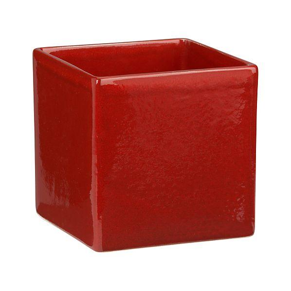 Square Red Planter