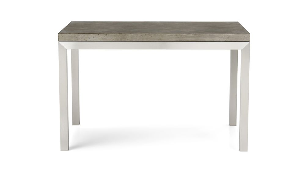 Concrete Top/ Stainless Steel Base 72x42 Parsons Dining Table