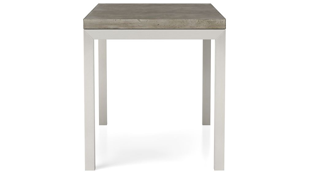 Concrete Top/ Stainless Steel Base 60x36 Parsons Dining Table