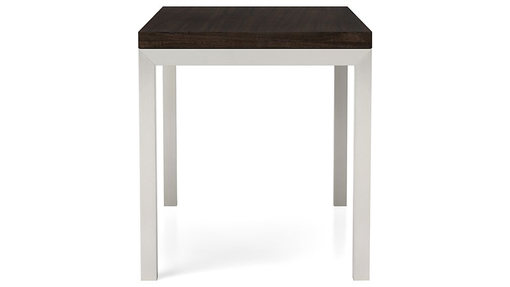 Myrtle Top/ Stainless Steel Base 48x28 Parsons High Dining Table