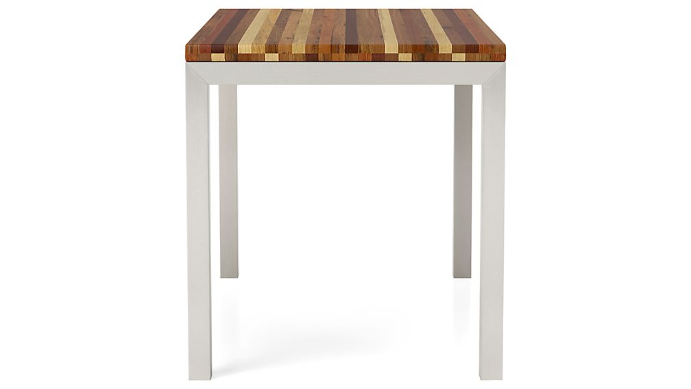 Reclaimed Wood Top/ Stainless Steel Base 60x36 Parsons Dining Table