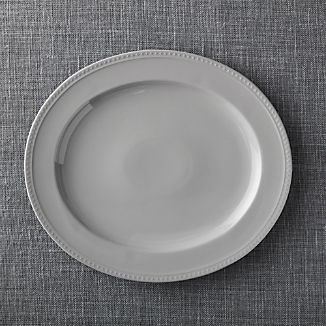Staccato Grey Oval Platter