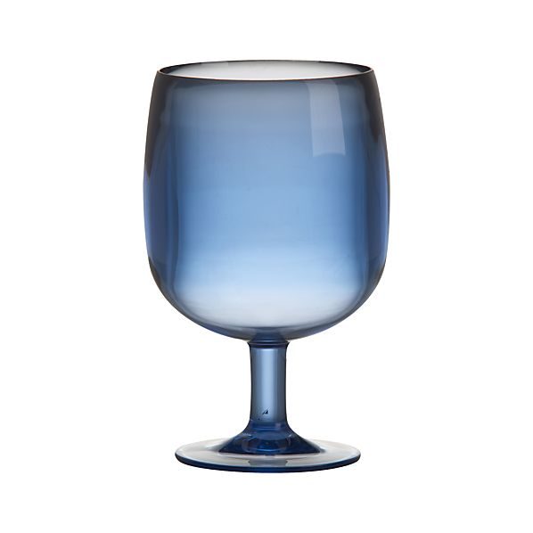 Stacking Blue Acrylic Wine Glass