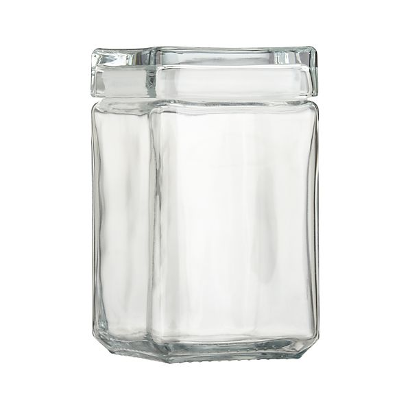 Medium Stackable Glass Storage Jar