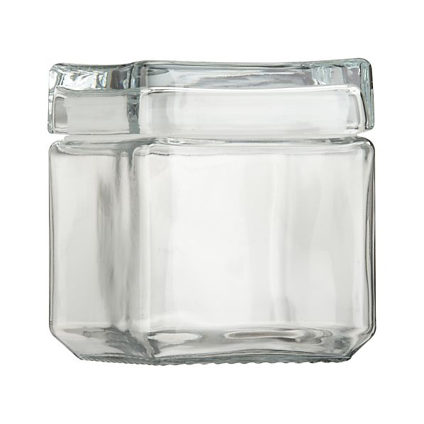 Small Stackable Glass Storage Jar