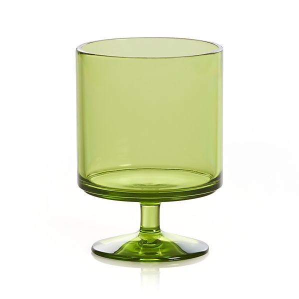 Stacking Acrylic Green Wine Glass