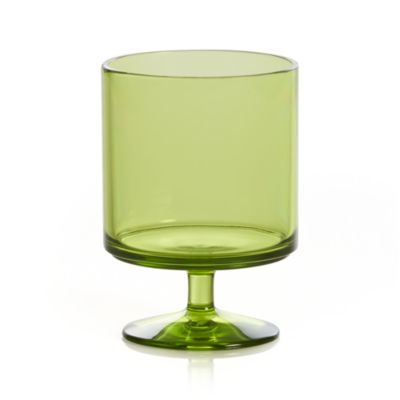 Stacking Acrylic Green Wine Glass