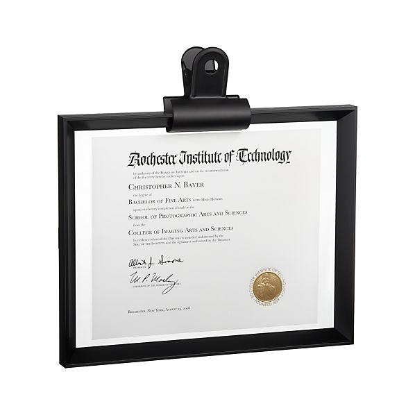 Stage 11x14 Document Frame and Frame Clip