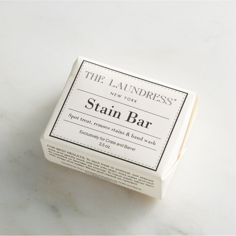 Take a new view of cleaning with our exclusive solutions from the experts at The Laundress®. Formulated just for Clean Slate™, this ultra-gentle, eco-friendly stain remover is subtly infused with the scent of lavender. Formulated to naturally remove the most stubborn stains on clothing and upholstery, this rub-on, lathering bar is also safe for all fabric colors. The powerful plant-based formula is 100% biodegradable, non-toxic and free of allergens, artificial colors or dyes, making it a kind choice for both the environment and sensitive skin.<br /><br />The Laundress® was dreamt up by two graduates from Cornell University's Fiber Science, Textile and Apparel Management and Design program. Frustrated with the financial and environmental cost of dry cleaning, the pair researched and developed eco-conscious formulas designed to properly care for every item in your closet.<br /><br /><NEWTAG/><ul><li>Formulated exclusively for Clean Slate™ by The Laundress®</li><li>Lathering stain bar is color-safe</li><li>Plant-based formula is 100% biodegradable, non-toxic and allergen-free with no artificial colors or dyes</li><li>Subtly scented with lavender</li><li>Made in USA</li></ul>