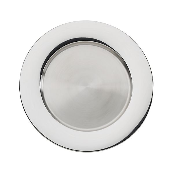 "Stainless Steel 13"" Charger Plate"