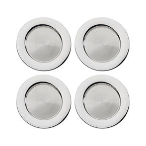 Stainless Steel 13 Chargers Set of Four -...