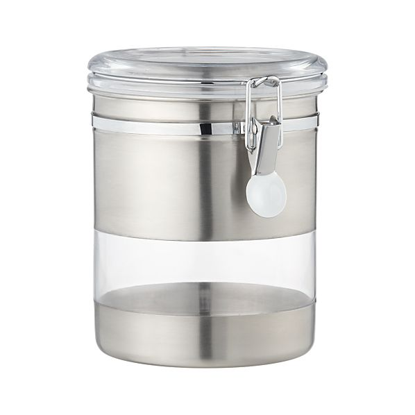 Stainless Steel Medium Clip Canister