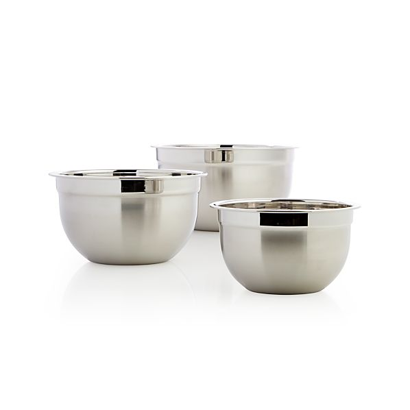 3-Piece Stainless Steel Bowl Set