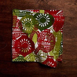 Stamped Ornament Dinner Napkin