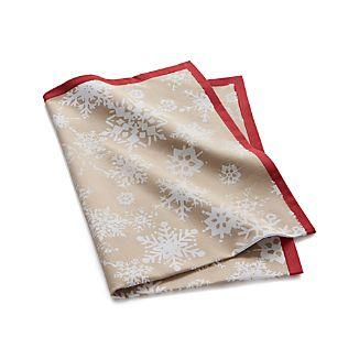 Stamped Snowflake Dish Towel