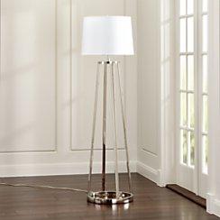 Stanza Nickel Floor Lamp