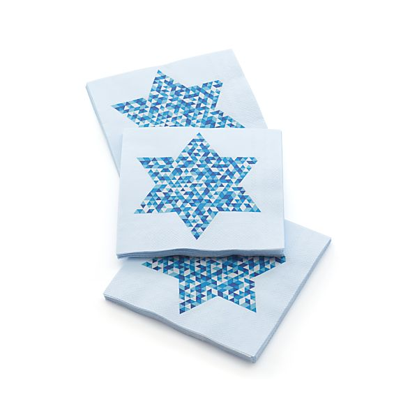 Set of 20 Star of David Beverage Napkins