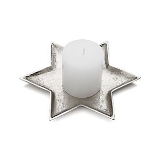Star of David Candle Plate