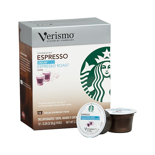 Starbucks ® Verismo ® Espresso Decaf Pods