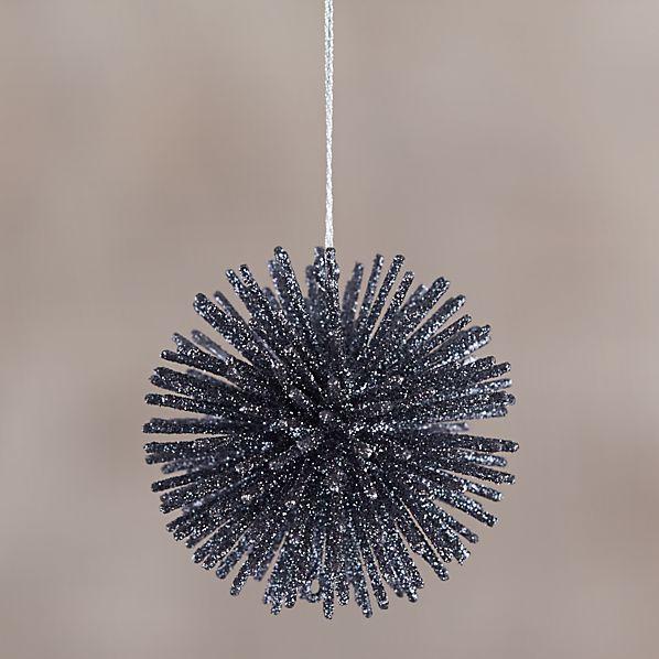 Charcoal Starburst Ornament