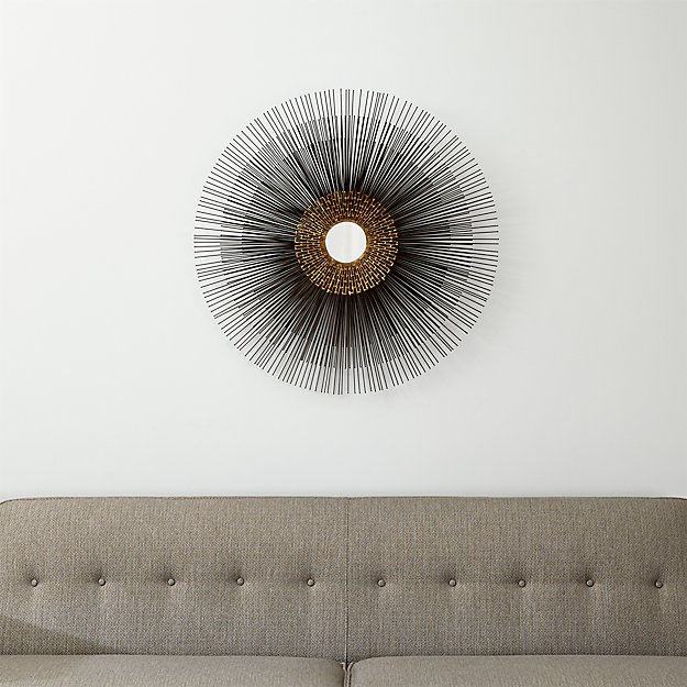Starburst Round Wall Mirror Crate And Barrel