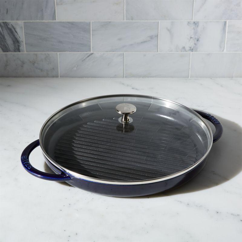 Staub ® Cast Iron Round Steam Grill - Dark Blue