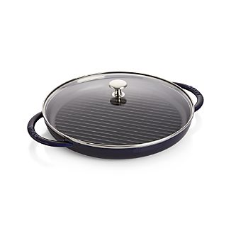 Staub ® Cast Iron Round Steam Grill - Dark Blue