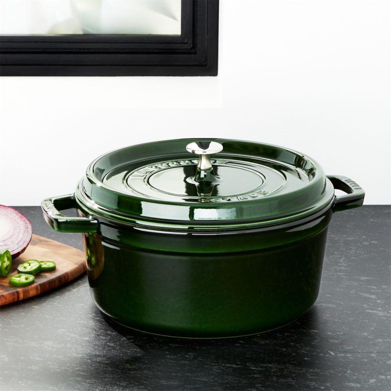 Staub ® 5.5-Qt Round Basil Green Cocotte