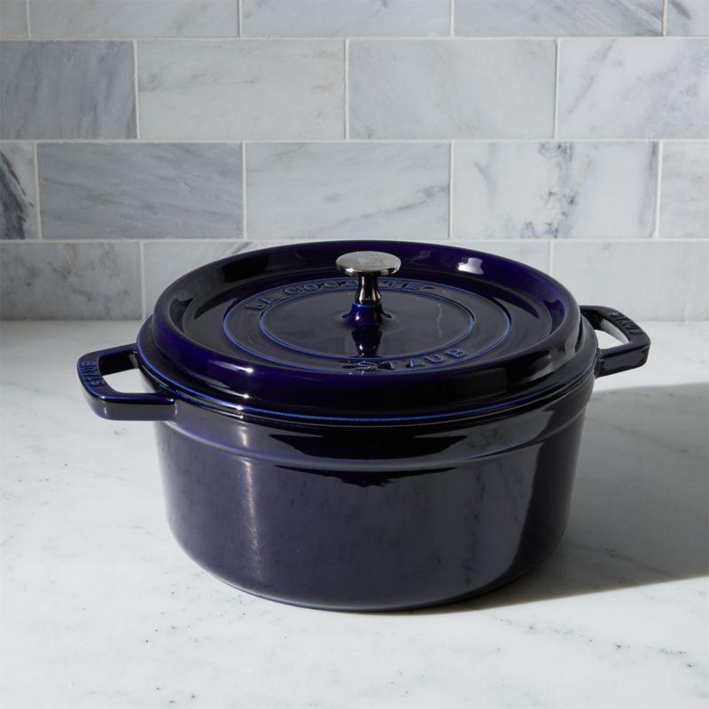 Staub ® 5.5-Qt Round Dark Blue Cocotte