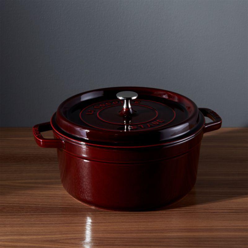 Staub ® 5.5-Qt Round Grenadine Red Cocotte