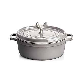 Staub ® 5.75-Qt Graphite Grey Coq Au Vin Cocotte