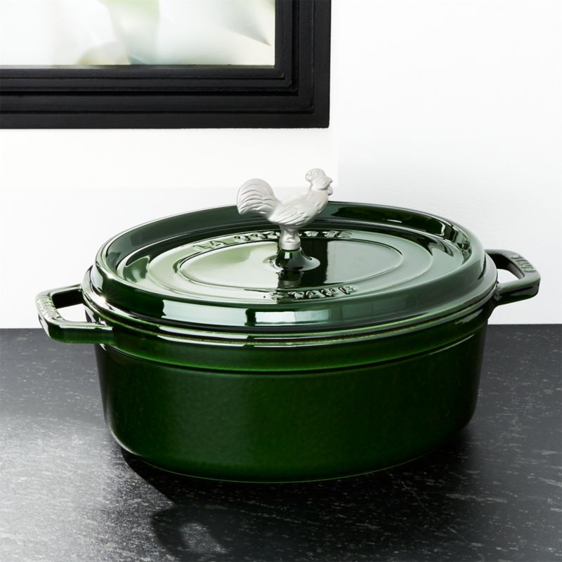 Staub ® 5.75-Qt Basil Green Coq Au Vin Cocotte
