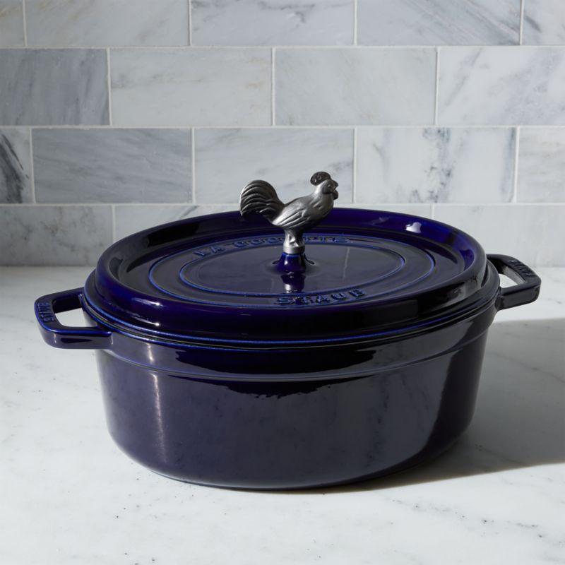 Staub ® 5.75-Qt. Dark Blue Coq Au Vin Cocotte