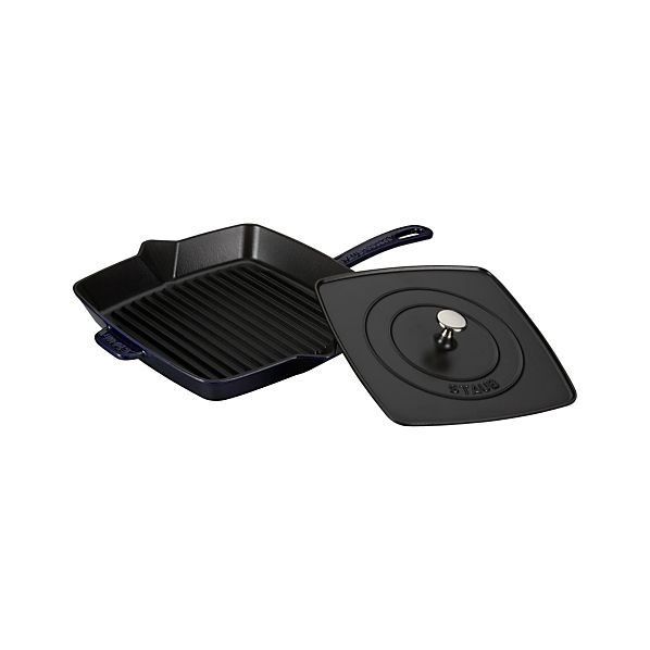 "Staub ® Blue 15.8"" Grill Pan-Press"