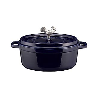 Staub ® 5.75-Qt. Dark Blue Coq Au Vin Cocotte