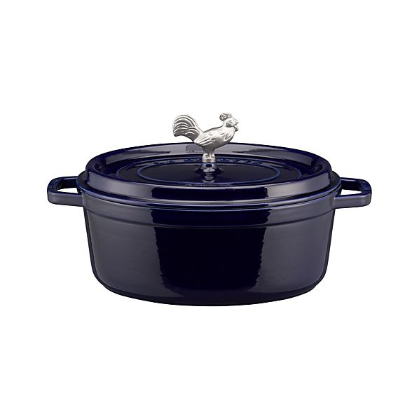 Staub ® Blue 5.75 qt. Oval Coq Au Vin