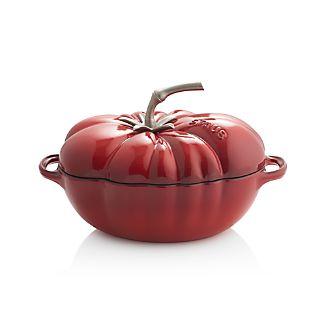 Staub ® 3-qt Enamel Cast Iron Tomato Cocotte