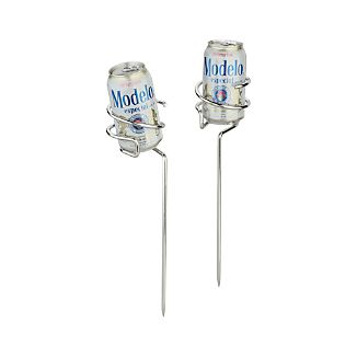 Set of 2 Steady Stick Beer Can Holders