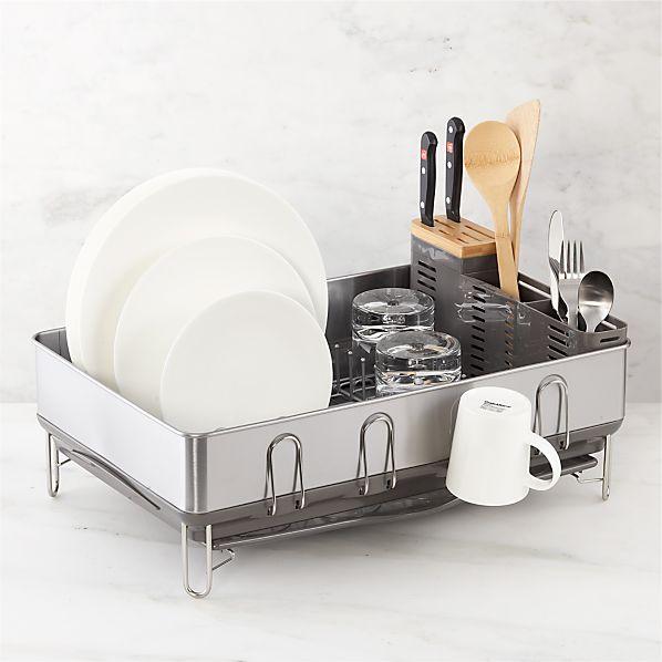 simplehuman ® Steel Frame Grey Dish Rack