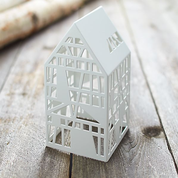 White Steel Laser Cut House