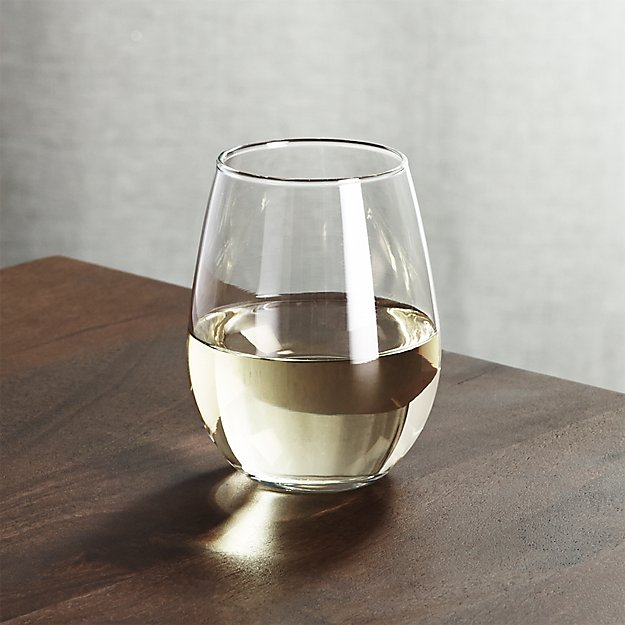 Stemless white wine glass oz crate and barrel - Stemless wine goblets ...