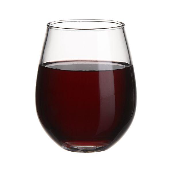 Acrylic Stemless Wine Glass