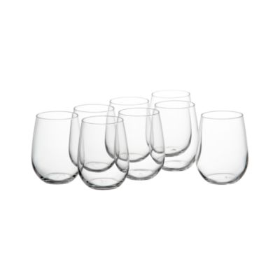Set of 8 Stemless Wine Glasses