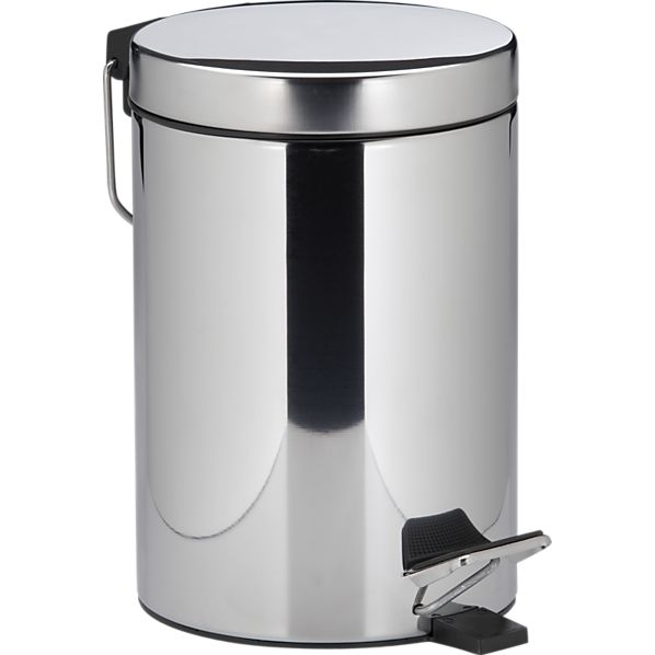 Stainless Steel Small Step-On .8-Gallon Trash Can