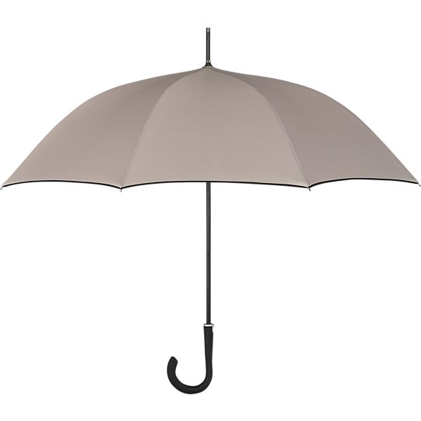 Taupe-Black Stick Umbrella