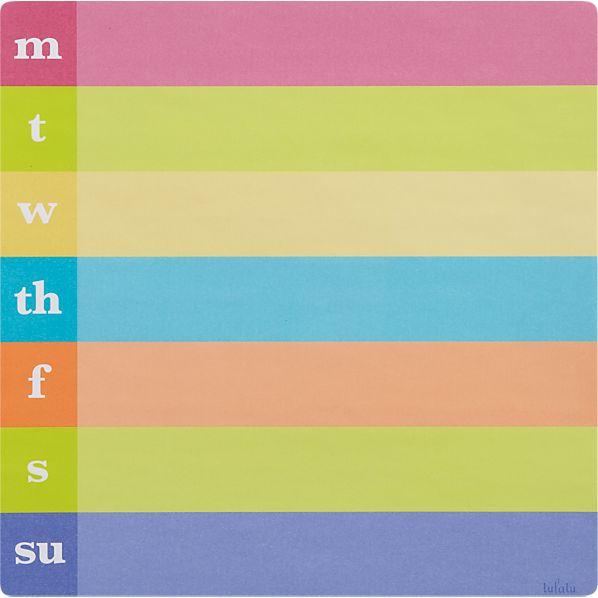 Monday-Sunday Sticker Pad