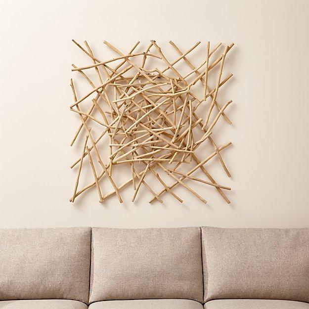 Sticks Wood Wall Art Crate And Barrel